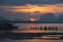Belle lumière de matin chez Baan Sam Chong Tai Photo stock