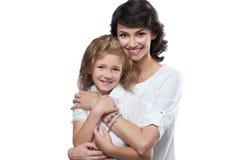 Belle mère avec sa fille aimée Image stock
