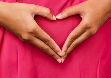 Belle main de femme montrant le geste, version 20 Images libres de droits