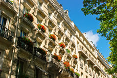 Belle maison à Paris Images stock