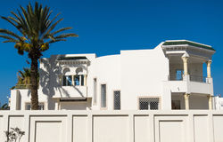 Belle maison blanche Photo libre de droits