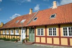 Belle maison chez bornholm Photos stock