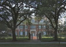 Belle maison dans le secteur de musée, Houston du centre, le Texas image stock