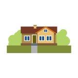 Belle maison La propriété townhouse Construction Business ENV 10 D'isolement Vecteur Photos libres de droits
