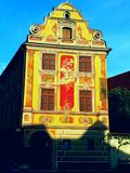 Belle maison peinte dans Memmingen Image libre de droits