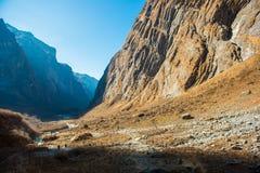 Belle manière pour le trekking au camp de base d'Annapurna Image stock