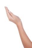 Belle mani aperte della donna Fotografia Stock