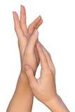 Belle mani di una donna Immagini Stock