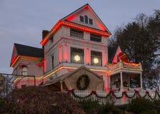 Belle Mantion vitoriano Portland, OU, EUA - dezembro, 25 2014 Foto de Stock Royalty Free