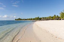 Belle Mare Plage i Mauritius Arkivbild