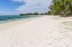 Belle Mare Plage i Mauritius Arkivfoton