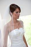 Belle mariée étant prête Photographie stock