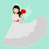 Belle mariée illustration de vecteur