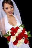 Belle mariée asiatique au mariage Photographie stock libre de droits