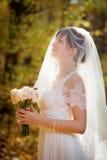 Belle mariée avec le mariage Images stock