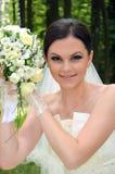 Belle mariée avec un bouquet photos libres de droits