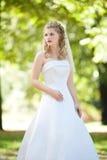 Belle mariée dans la robe blanche Photographie stock