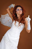 Belle mariée dans le studio Photo stock