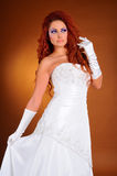 Belle mariée dans le studio Images libres de droits