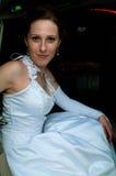 Belle mariée dans le véhicule Images libres de droits
