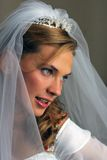 Belle mariée de sourire heureuse Photographie stock libre de droits