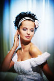 Belle mariée de verticale photographie stock