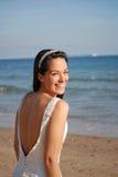 Belle mariée heureuse Photos stock