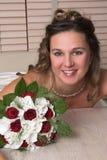 Belle mariée radiante images libres de droits