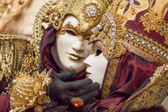 Belle maschere al carnevale a Venezia, Italia Immagine Stock