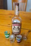Belle Meade Whiskey Bourbon och skottexponeringsglas Royaltyfria Bilder