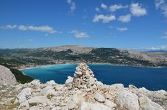 Belle Mer Adriatique en été de 2015 Image stock