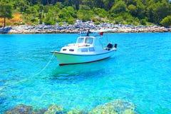 Belle mer bleue, île Hvar en Croatie photos libres de droits