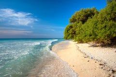 Belle mer chez Gili Meno, Indonésie. Image stock