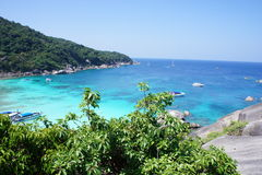 Belle mer d'Andaman d'îles en Thaïlande Photos stock