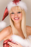 belle Mme Santa de Claus Photographie stock