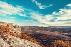 Belle montagna e valle in Crimea fotografia stock