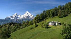 Belle montagne photo stock