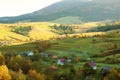 Belle montagne carpatiche in autunno Fotografie Stock