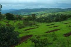 Belle montagne de Satara scénique Photos stock