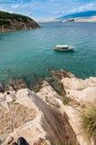 Belle montagne del mare della Croazia Fotografia Stock