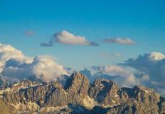 Belle montagne delle alpi, le dolomia Fotografie Stock