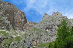 Belle montagne delle alpi, le dolomia Immagine Stock