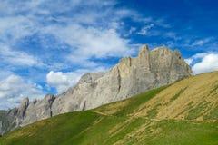 Belle montagne delle alpi, le dolomia Fotografie Stock Libere da Diritti