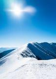 Belle montagne di inverno Fotografie Stock