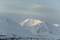 Belle montagne in Homer Alaska fotografia stock