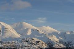 Belle montagne in Homer Alaska fotografia stock libera da diritti