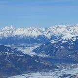 Belle montagne nevose in Austria per lo sport e gli sport estremi nelle alpi in Europa Fotografia Stock Libera da Diritti