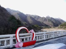 Belle montagne Soeraksan in Corea del Sud Fotografie Stock