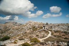 Belle montagne sulla parte occidentale dell'isola di Mallorca, Spai Fotografie Stock Libere da Diritti