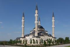 Belle mosquée sur le fond d'un beau ciel images libres de droits
